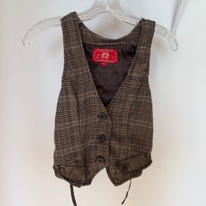 【new】espirit checked vest